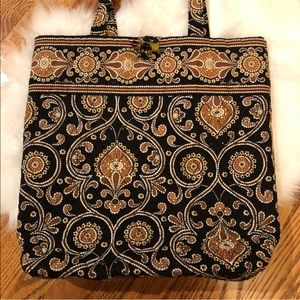 Vera Bradley ~ Caffe Latte Tote Bag - Retired